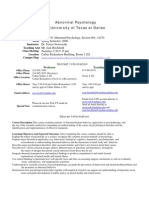 UT Dallas Syllabus for psy4343.001.08s taught by Teresa Nezworski (nezworsk)