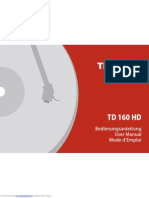 Thorens TD 160 HD User Manual