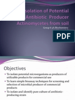Antiobiotic Isolation From Soil