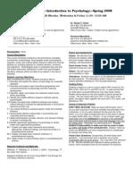 UT Dallas Syllabus for psy2301.001.08s taught by James Bartlett (jbartlet)