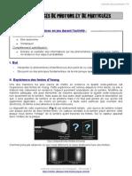 Interférences de Photons Et de Particules