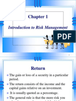 Chpt 01 Introduduction to Risk Manangement