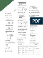 QM II Formula Sheet