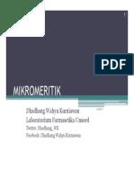 Mikromeritik Compatibility