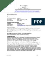 UT Dallas Syllabus for aim6379.0g1.08s taught by Hanuman Chittem (hpc010100)