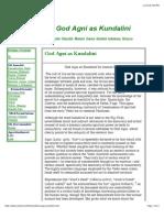 God Agni as Kundalini