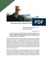 Un Intelectual Sin Ambición Es Un Impostor. Entrevista de Daniel Sacilotto. Alonso Almenara
