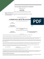 Community Health Systems Inc SEC filing