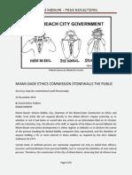 Miami Dade Ethics Commission Stonewalls the Public