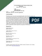 UT Dallas Syllabus for lit2331.002.08s taught by Maureen Codd (mrc041000)