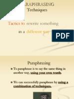 Paraphrasing Techniques