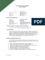 UT Dallas Syllabus for se3340.001.08s taught by Herman Harrison (hxh017200)