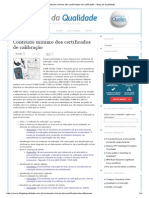 Conteúdo Mínimo Dos Certificados de Calibração - Blog Da Qualidade