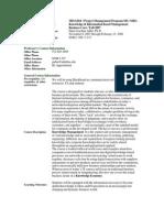 UT Dallas Syllabus for mis6204.pjm.08s taught by Hans-joachim Adler (hxa026000)