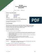 UT Dallas Syllabus for ee3350.001.08s taught by P Rajasekaran (pkr021000)