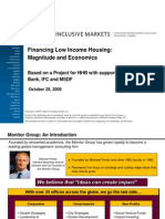 11.Financing for Low Income Housing- Magnitude and Economics--Monitor Group