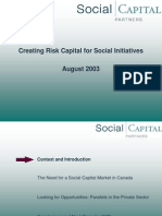 Creating Risk Capital for Social Initiatives