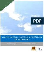 GASTO SOCIAL CARIDAD Y POLITICAS DE PROGRESO
