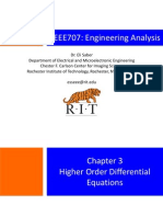 Chapter 3-Higher Order Differential Equations