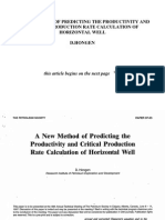 A New Method of Predicting the Productivity and Critical Production Rate Calculation of Horizontal Well