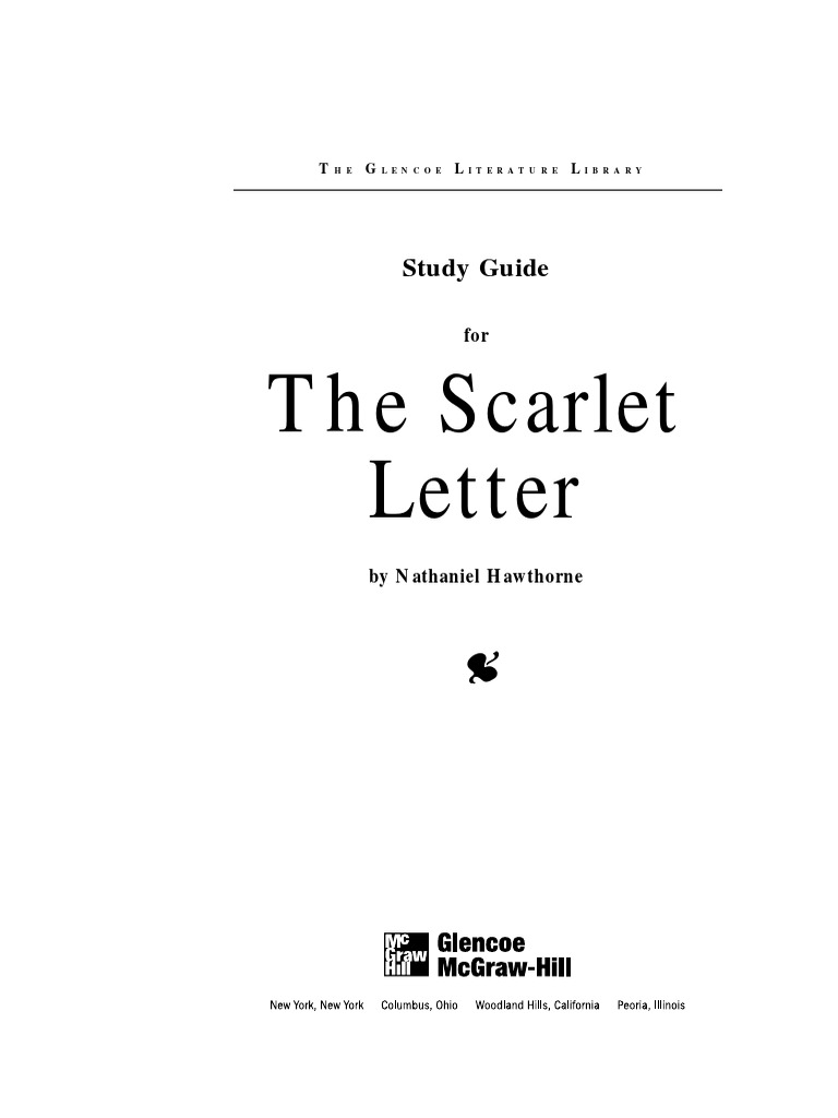 Study Guide   The Scarlet Letter   The Scarlet Letter   Nathaniel