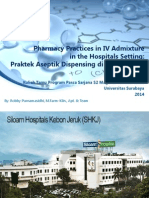 Pharmacy Practices in IV Admixture in the Hospitals
