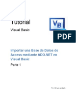 Importar Base de Datos con ADO VB