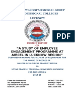 A Study of Employee Engagement Programme at Aircel in Lucknow Region