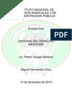 Ensayo Historia Del Derecho Mexicano Copia