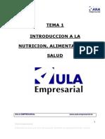 Tema 1. Introducción a La Nutrición, Alimentación y Salud
