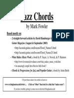 Jazz Chords - Folk College 2009