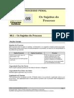 DPP 08 - Os Sujeitos Do Processo