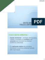 Gestão Ambiental Pública e Empresarial