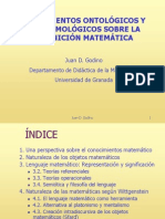 Fundamentos Ontológicos y Epistemológicos Sobre La Cognición Matemática