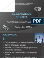 El Lenguaje Sexista
