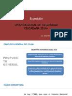 Exposición POWER POINT Plan Regional JULIO 2014