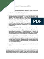 Preguntas Independencia de Chile