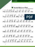 Todos Los Acordes en Piano (Partituras)