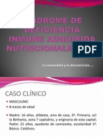Síndrome de Deficiencia Inmune Adquirida Nutricionalmente