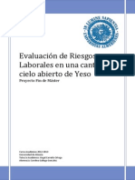 Trabajo Evaluacion de Riesgos en Cantera a Tajo Abierto de Yeso