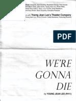 We're Gonna Die