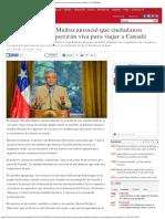 Canciller Heraldo Muñoz Anunció Que Ciudadanos Chilenos Ya No Requerirán Visa Pa
