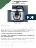 Delimano Electric Pressure Multi Cooker 5l Eng