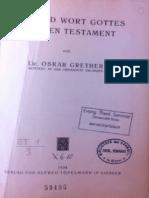 GRETHER OSKAR BZAW-64 1934 Name Und Wort Gottes Im Alten Testament