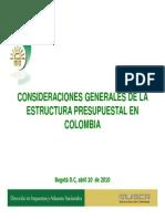 Estructura Presupuestal En Colombia