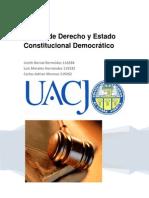 Estado de Derecho y Estado Constitucional Democráticoo