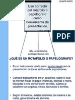 Uso Rotafolio