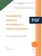 Informe de Impacto Económico y Presupuestariodel Proyecto de Reforma de Ley Del IVIC