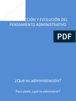 Pensamiento Administrativo Clase 1