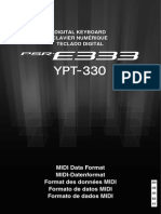 Yamaha PSR E333 Manual